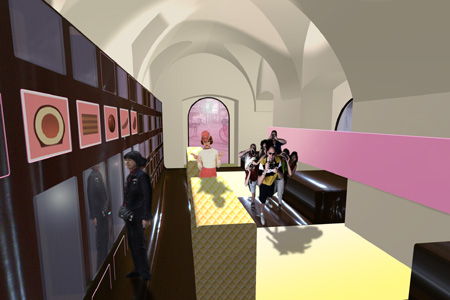 Manner Shop - interior rendering 1