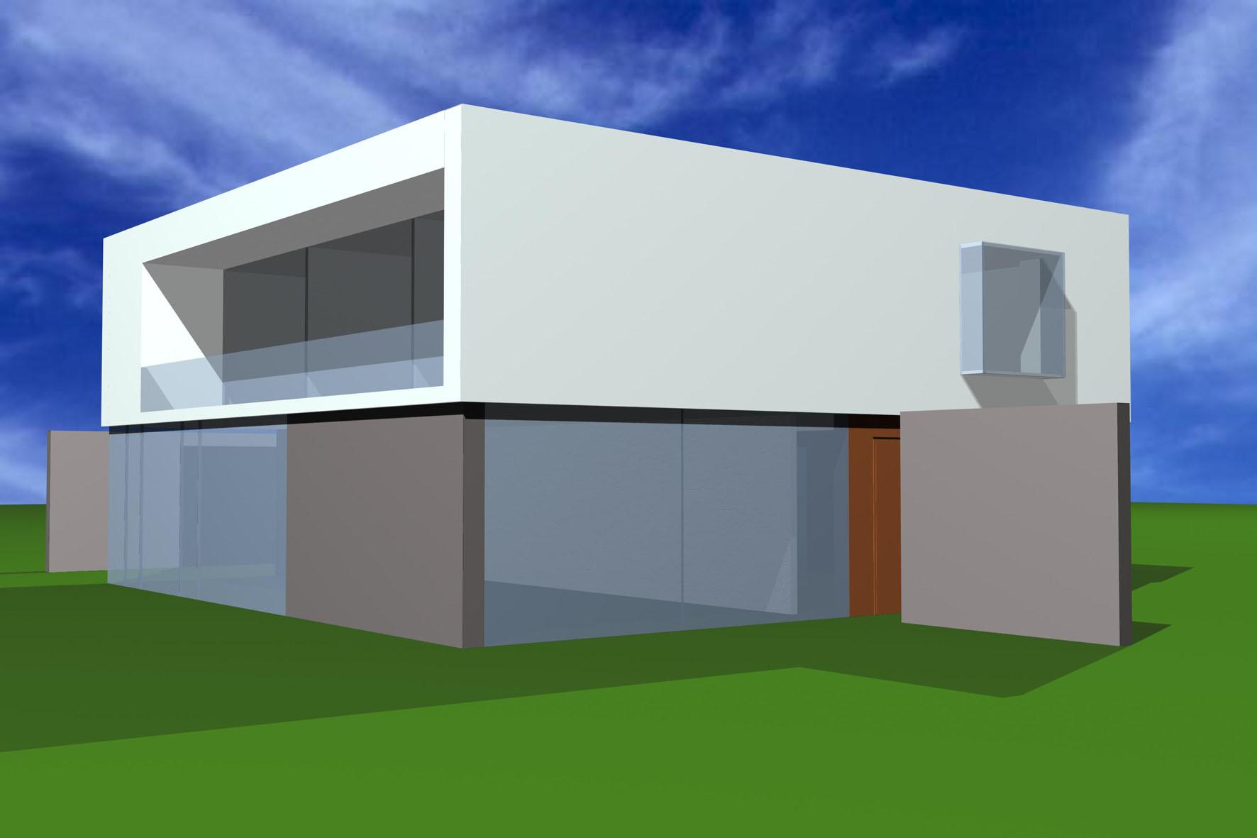 Haus an der Liesing - Visualisierung vorne