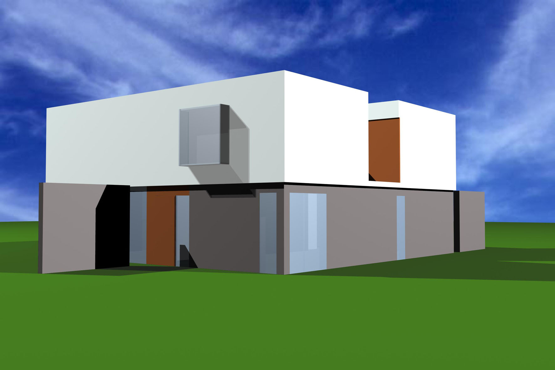 Haus an der Liesing - Visualisierung hinten