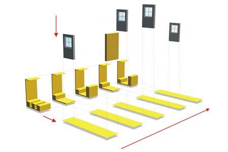 Hrachowina Messestand - Visualisierung des modularen Konzepts