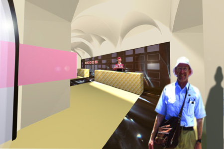 Manner Shop - interior rendering 3