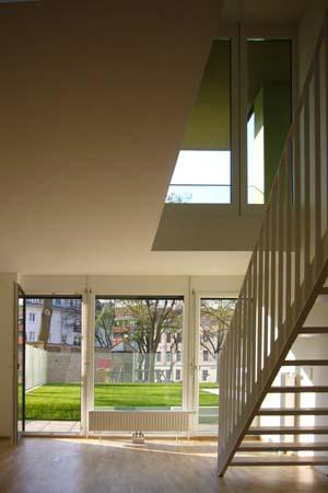 Wohnbau in Haselnuss-Pistazie - Maisonettewohnung