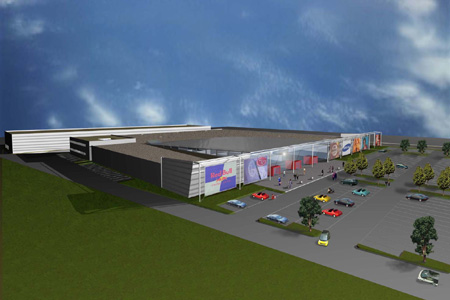 Univers Shopping Centre - wide rendering