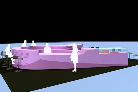 Airport Tirana - Barkonzept 2 - Visualisierung