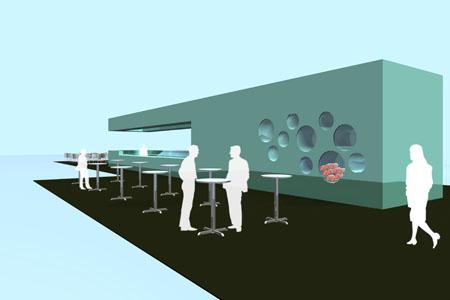 Airport Tirana - Barkonzept 1 - Visualisierung
