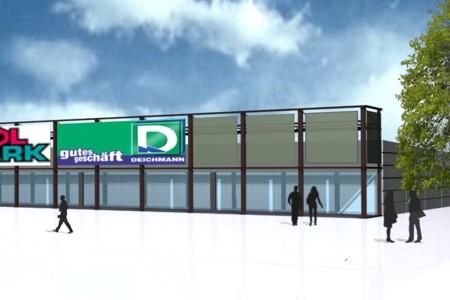 Fachmarktzentrum frontal