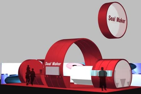 Seal Maker Messestand - Visualisierung Totale