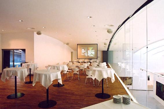MUMOK Umbau - VIP Lounge auf der Galerie