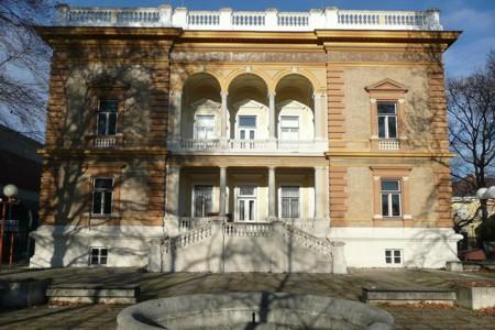 Burkhardvilla Gartenfassade saniert