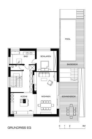 Haus für eine Fußballmannschaft - Grundriss EG