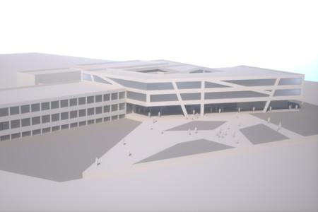 BG Gainfarn - Visualisierung Vorplatz