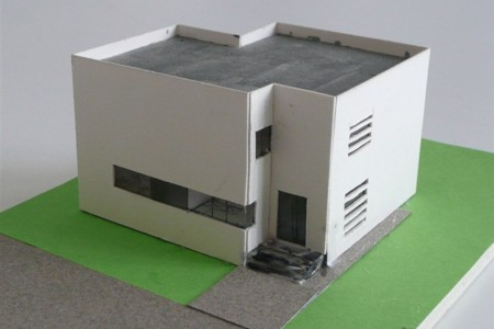 Boutique House - Architecture Model - Street Side
