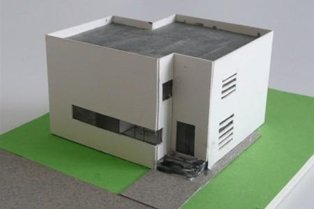 Boutiquehaus - Architekturmodell - Straßenseite