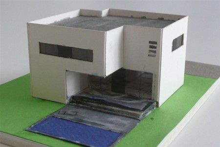 Boutique House - Architecture Model - Garden Side