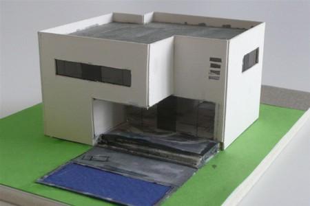 Boutiquehaus - Architekturmodell - Gartenseite