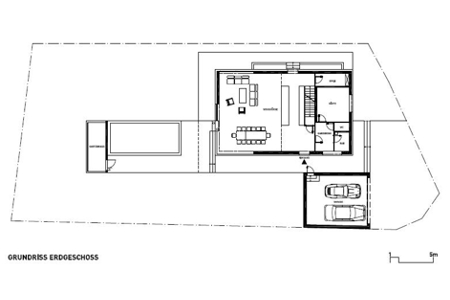 House with view to Traunstein - Floor plan