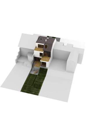 Haus beim Lainzer Tor - Blick von oben