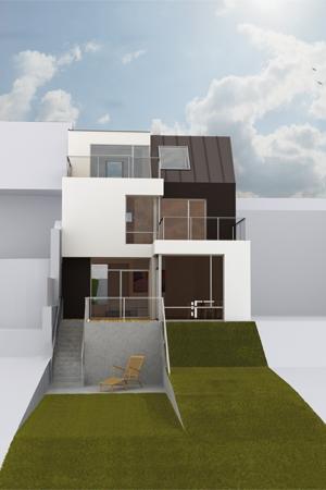Haus beim Lainzer Tor - Blick vom Garten