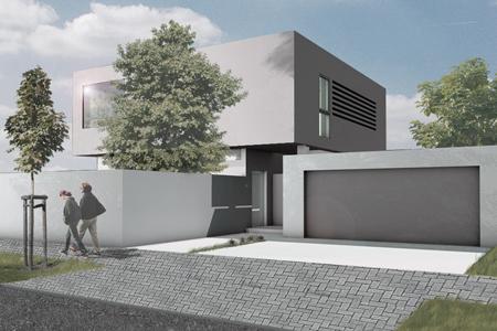 Haus für einen Junggesellen - Blick von der Strasse