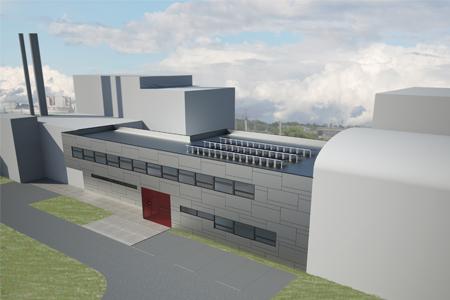Eingangsgebäude NES-Labors - Blick von oben