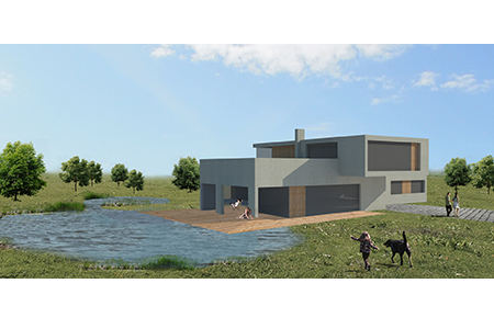 Haus für Unentschlossene - Visualisierung - Variante3