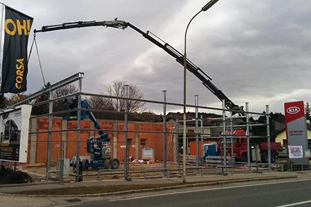 KIA-Schauraum - Baustelle