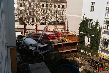 City-Pooldeck - Baustelle
