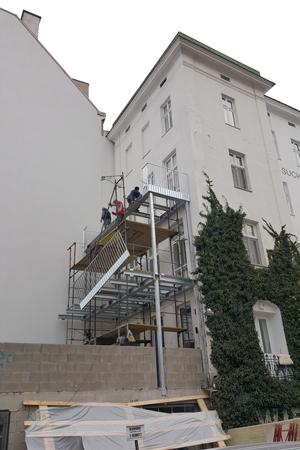 City-Pooldeck Baustelle