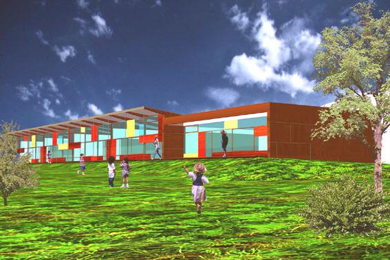 Kindergarten Forchtenstein - Visualisierung Totale