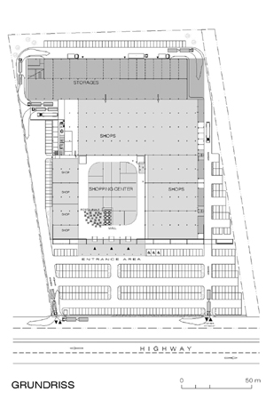 Univers Shopping Centre - site plan
