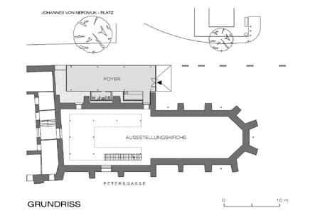 Ausstellungskirche Sankt Peter - Grundriss