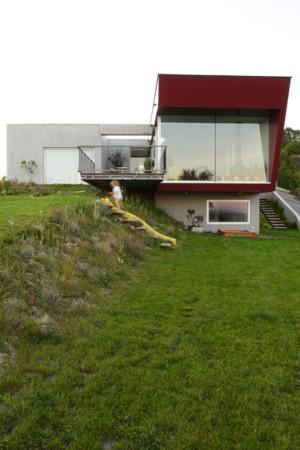 Haus mit Panorama - Gartenansicht
