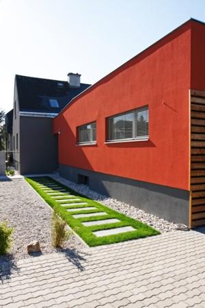 Haus ohne Dach - Flachbau straßenseitig