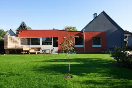 Haus ohne Dach - Gartenansicht