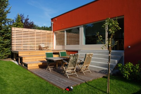 Haus ohne Dach - Terrasse