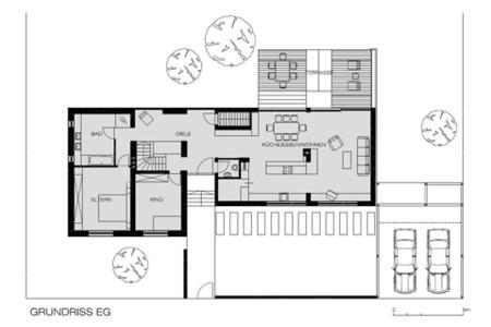 Haus ohne Dach - Grundriss EG