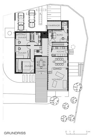 House with Panorama - floor plan